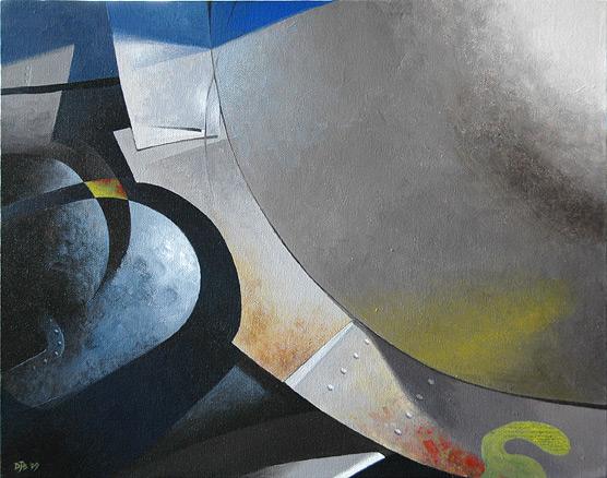 "Saracen. From the ""Avion"" series. Acrylic on canvas."