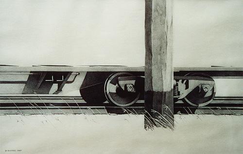 Kempsey Railyard. Pencil on paper.