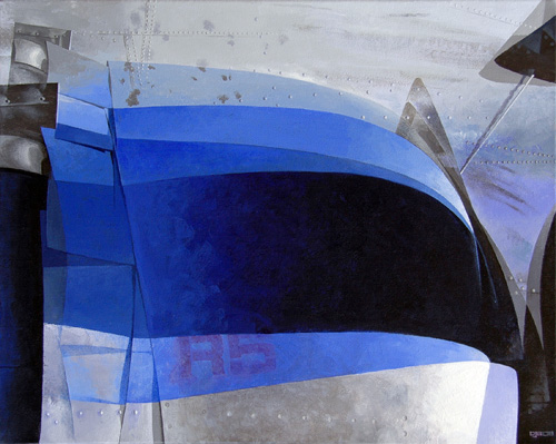 """Ruby5. From the """"Avion"""" series. Acrylic on canvas."""