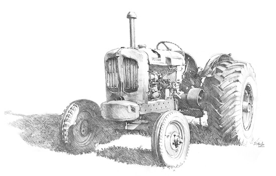 Another tractor from Mogo NSW. Pencil on paper.